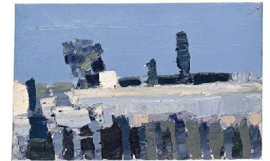 Paysage (Paysage, Ménerbes) - Nicolas de Stael, 1953