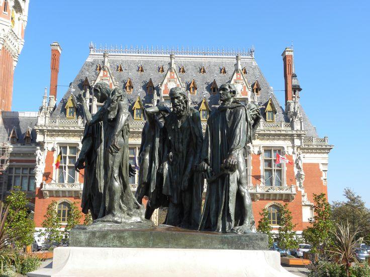Les Bourgeois de Calais devant l'hôtel de ville
