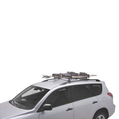 SportRack SR6453 Roof Mount Ski and Snowboard Carrier, 8-Pairs of Skis or 4-Snowboards, Black
