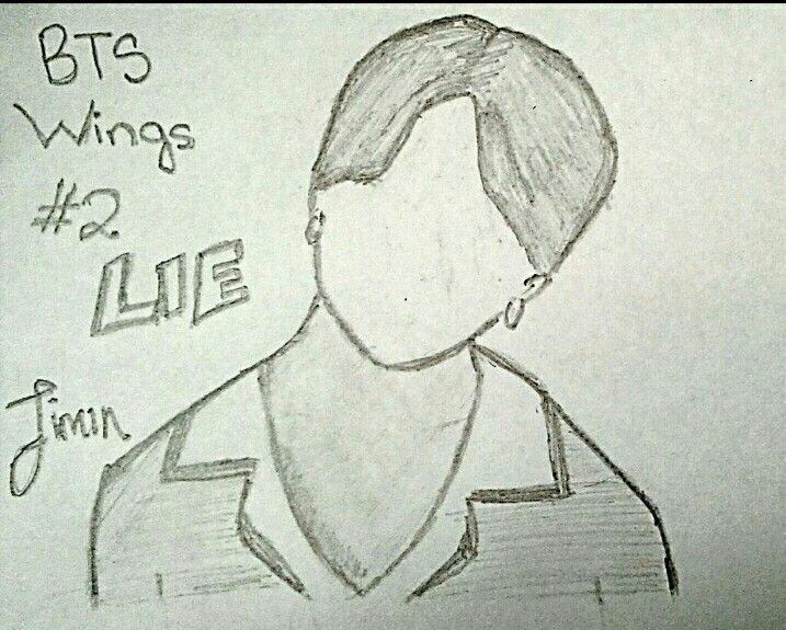 """Jimin """"WINGS"""" PT.2 """"LIE"""" Fanart"""
