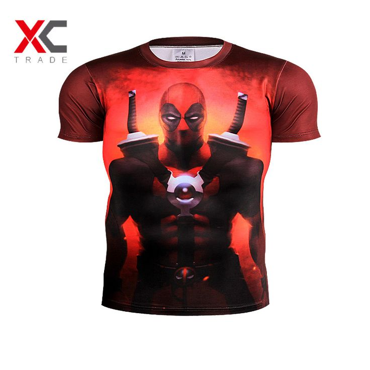 NO.11 new American movie Deadpool 3D Men's T-shirt men and women casual shirt T-shirt screen real man choose clothing trend 3 XL //Price: $US $6.23 & FREE Shipping //     #clothing