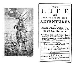 """Robinson Crusoe by Daniel Defoe. """"Years later, Crusoe joins an expedition to bring slaves from Africa but he is shipwrecked in a storm about forty miles out to sea on an island (which he calls the Island of Despair) near the mouth of the Orinoco river on September 30, 1659. Only he and three animals, the captain's dog and two cats, survive the shipwreck."""