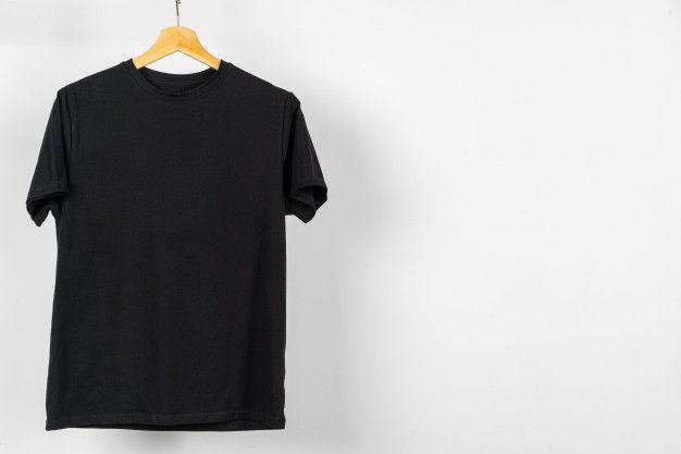 Download Black Plain T Shirt Hanging On A Hanger Copy Space Plain Tshirt Plain White T Shirt Shirts