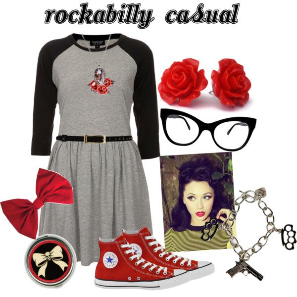 """get the look - rockabilly casual"" by onceuponanovel on Polyvore"