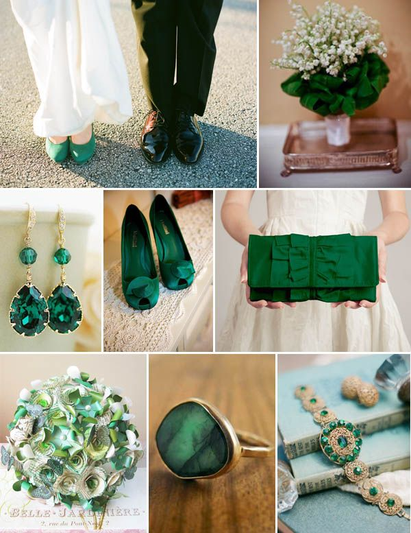 If I chose emerald to be in my color scheme (then I can pick one of those beautiful bridesmaids dresses!) Plus emerald is Rory's birthstone :)