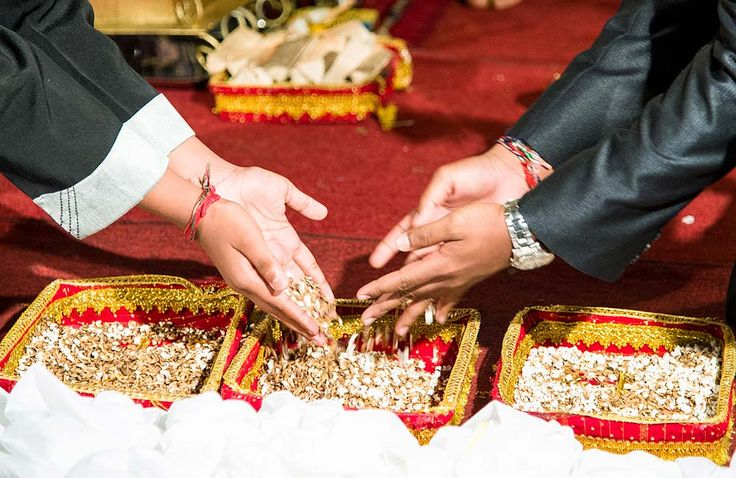 Boys mixing pop corn, Hindi wedding ceremony in Durban