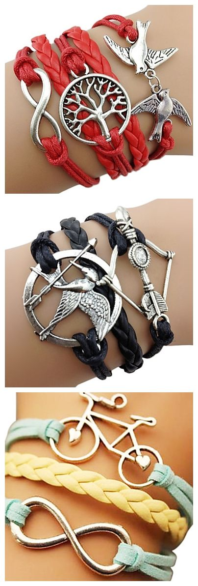 Which one of these lovely bracelets do you prefer? I love the bike one!