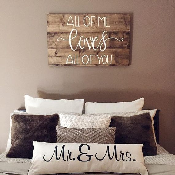Best 25 bedroom signs ideas on pinterest farmhouse for Home decor quotes signs