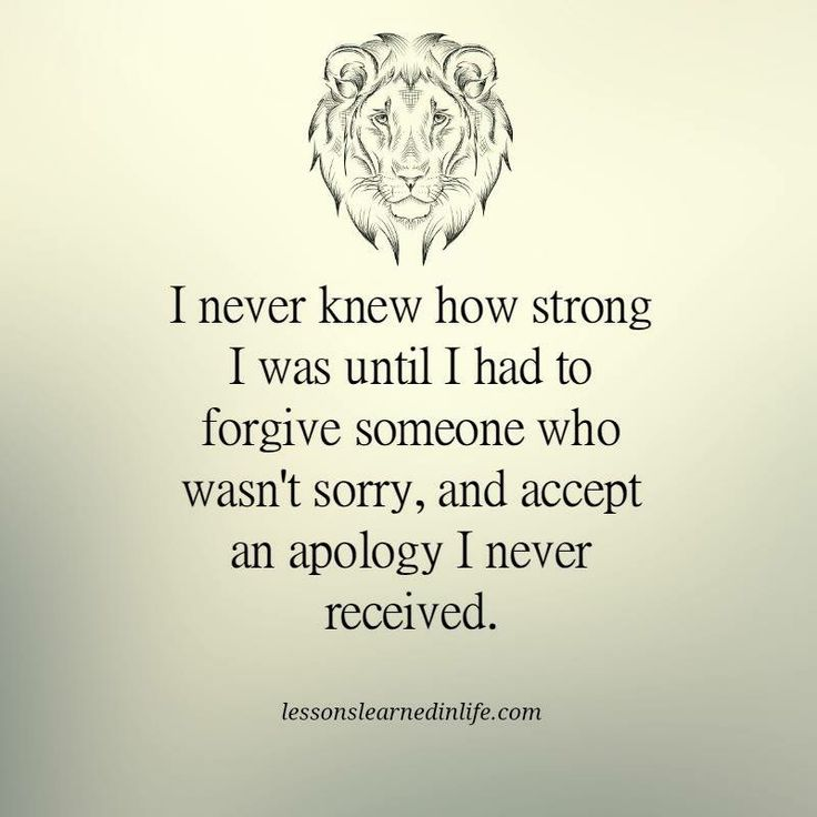 Forgive them even if they aren't sorry.