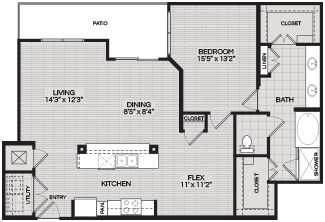 Floorplans A5 1 BEDROOM 1 BATH