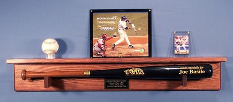 Baseball Bat Display with Display Shelf $70