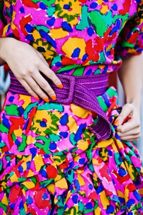 I think this is from Karla's Closet, according to the blog.  If I'm wrong, let me know!  I love this dress, the colours, the pattern, so bright and cheery!