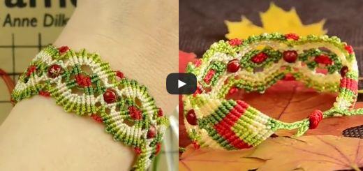 Autumn macrame bracelet