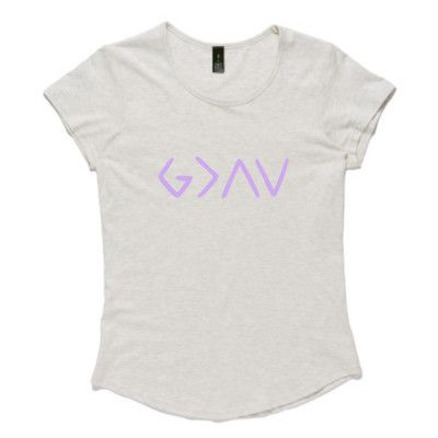 Ladies Christian T-Shirt - God is Greater than the highs and lows