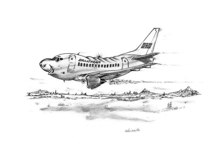 Pencil fantacy Braathens SAFE Boeing 737