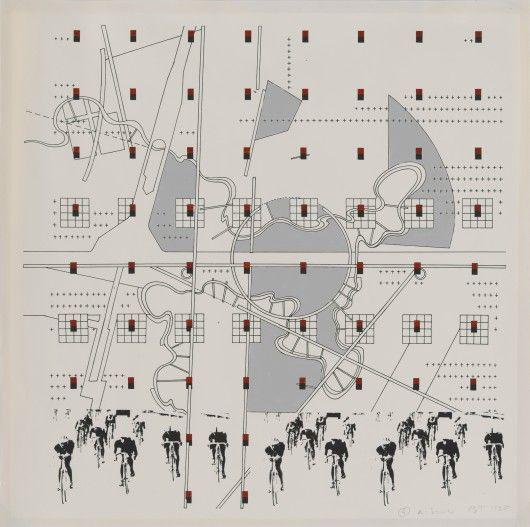 Bernard Tschumi, #4 K Series, 1985. Study for La Case Vide: La Villette, Folio VIII, 1985. Image Courtesy of Kemper Art Museum