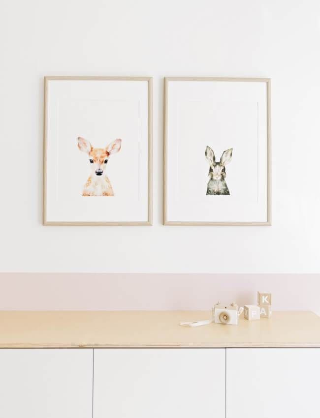 Baby girl nursery with Amy Hamilton prints by House of Hawkes www.houseofhawkes.com