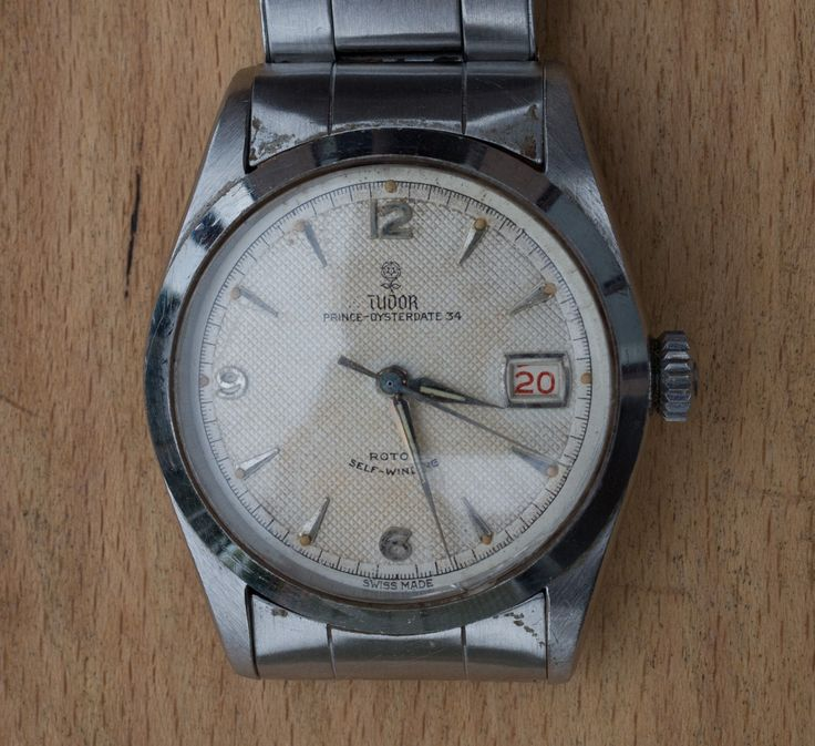 #Forsale #Rolex Tudor Oysterdate 34 Waffle Dial 1950s Vintage #Auction @$1,122.17