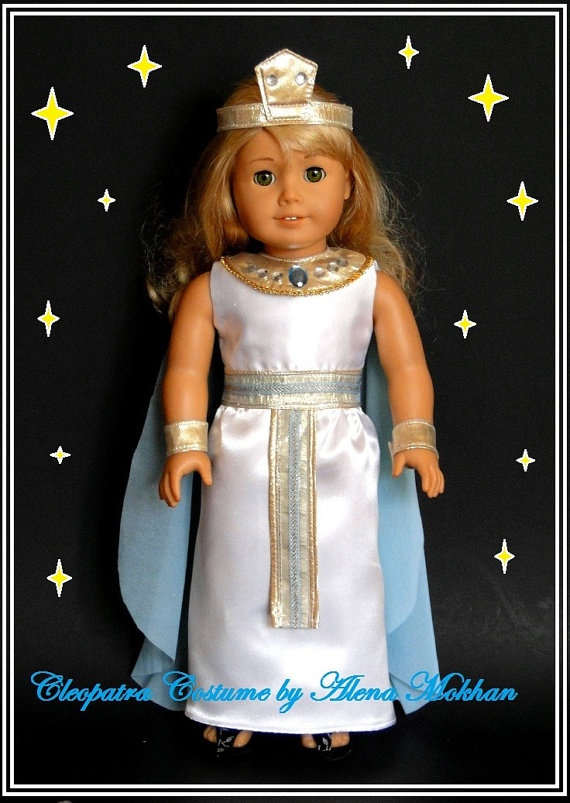 Cleopatra Costume  5 PS   fits American Girl by bestdollboutique, $31.99: Ag Costumes, Dolls Ag, Cleopatra Costumes, Fit American, American Girl Dolls, Ps Fit, Ag Dolls, Dolls Costumes, American Girls Dolls