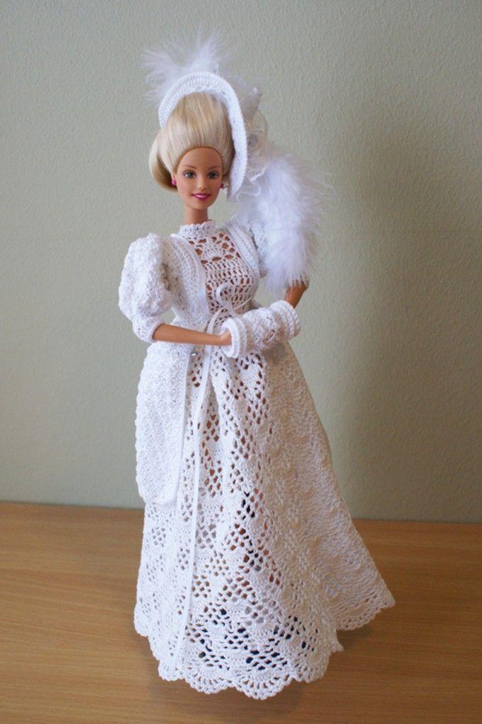 Crochet Barbie dress by Annie's Granny Design, design by Sandra Peach