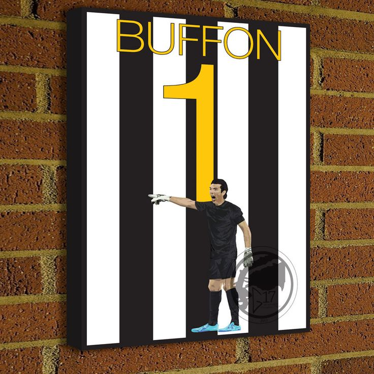 Juventus Legend Gianluigi Buffon 1 Canvas Print  - Juventus Soccer Poster- Pick Your Size poster wall decor, home decor, Serie A by Graphics17 on Etsy
