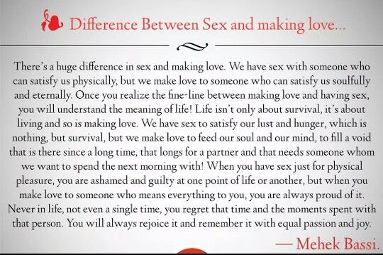 between difference having love making sex