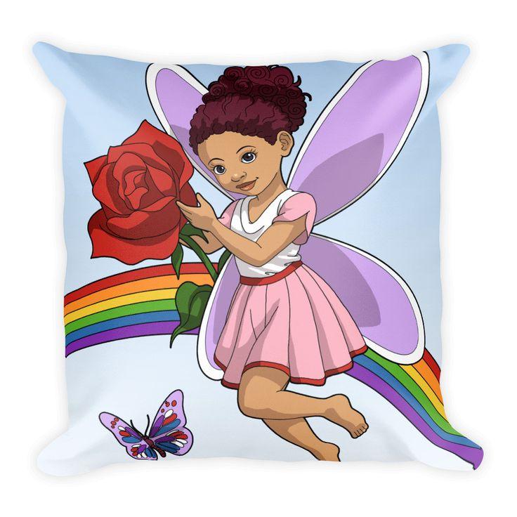 Butterfly Brown Girl Pillow