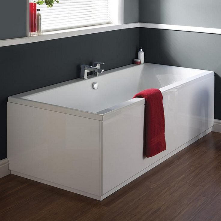 Ultra Jetty Square Double Ended Bath & Legset - Various Size Options Profile Large Image