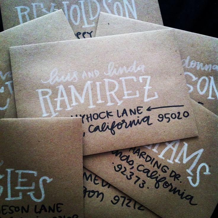 custom hand-lettering envelope addressing - email laurenishdesign@gmail.com for more info card