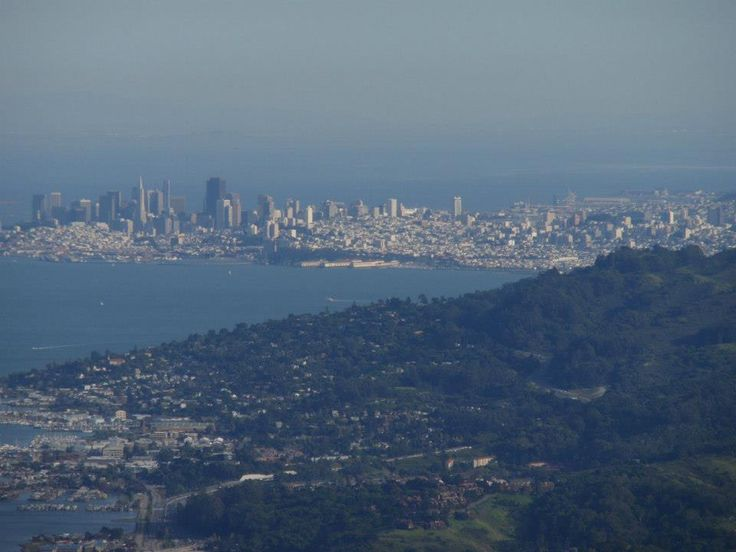 Looking from Mt. Tamalpais toward San Francisco.