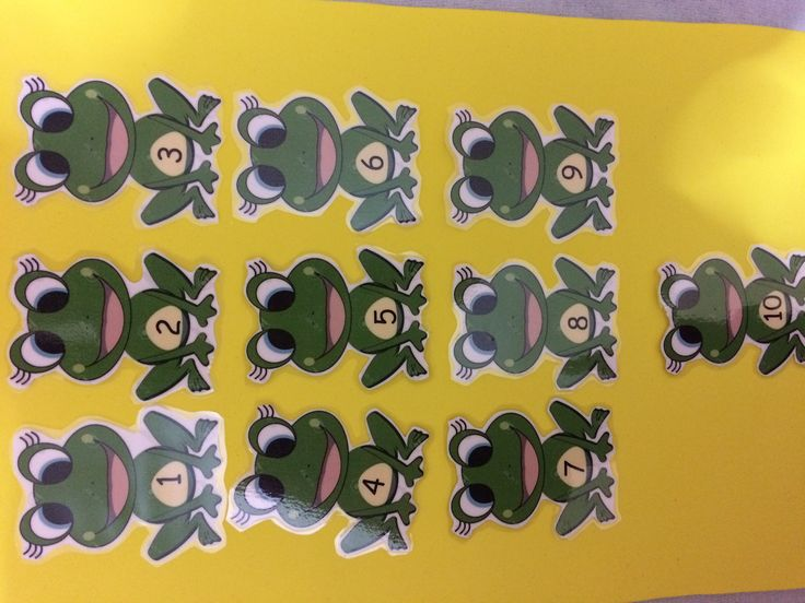 frog numbers (1-10)