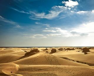 maspalomas, sand dunes by the sea... Grand Canaria