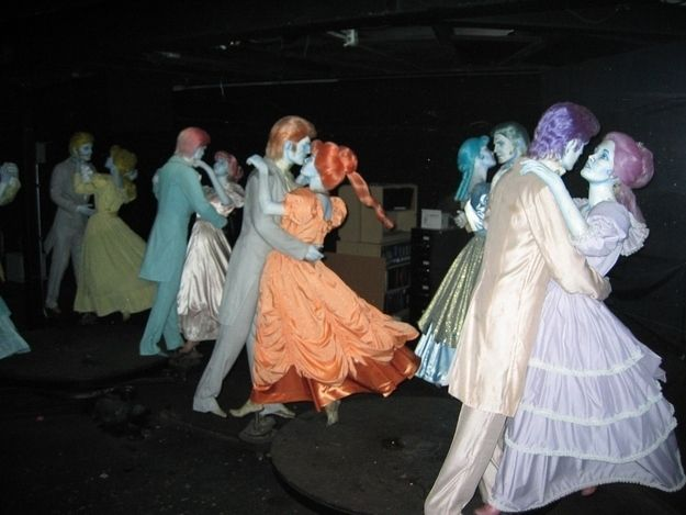 This is what they look like. | This Is What Disney's Haunted Mansion Looks Like Behind The Scenes