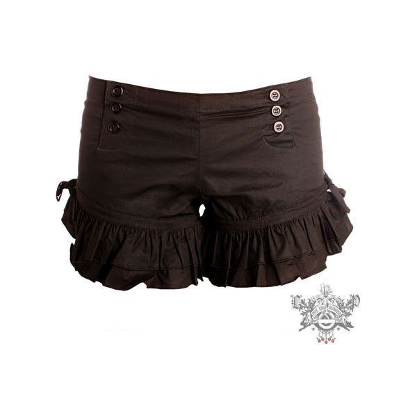 Five and Diamond - Wild Card Bloomers (195 BRL) ❤ liked on Polyvore featuring shorts, bottoms, pants and steampunk