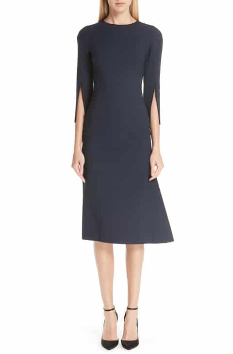c122c827e8 Oscar de la Renta Split Sleeve Stretch Wool Dress Reviews in 2019 ...