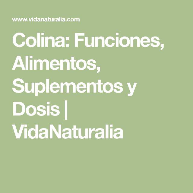 Colina: Funciones, Alimentos, Suplementos y Dosis | VidaNaturalia