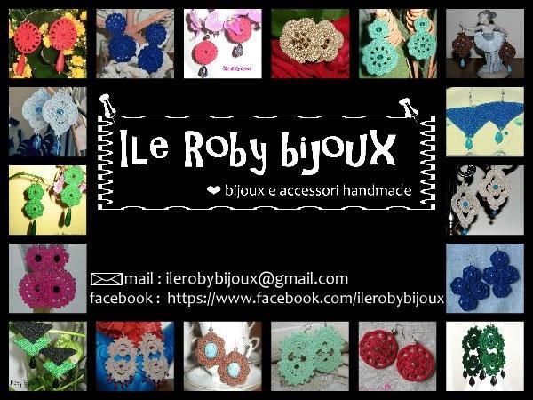 Bijoux e accessori realizzati in pizzo e uncinetto tutti rigorosamente handmade.  https://www.facebook.com/ilerobybijoux