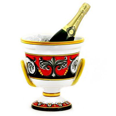 TIZIANO Deruta Deluxe Ceramic Ice Bucket Z38325TIZ ** Check out the image by visiting the link.