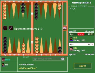 http://www.rubl.com/games/backgammon/ ‪‎Backgammon‬ game to play in browser - for all platforms - desktop, android, apple. HTML5 #backgammon #online game to play with other players‬. You can play the same ‪‎game‬ on almost all devices.