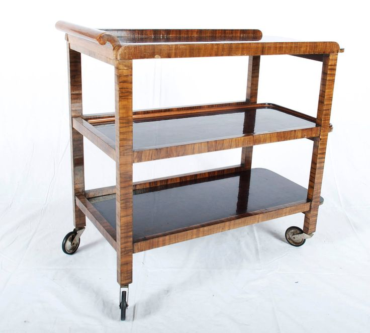 art deco thonet serving cart trolley - Dining Room Serving Carts