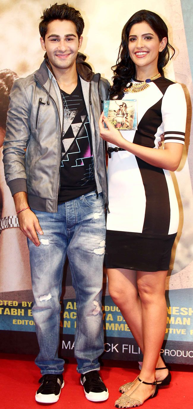 Armaan Jain and Deeksha Seth at the music launch of 'Lekar Hum Deewana Dil'. #Style #Bollywood #Fashion #Beauty