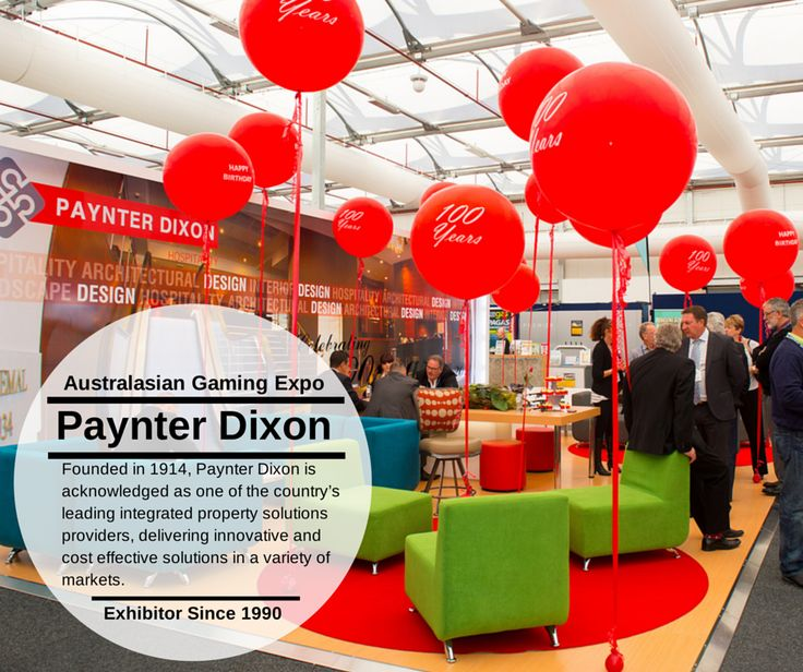 This year PAYNTER DIXON celebrates their 100th year and 25 consecutive years at the Australasian Gaming Expo. Congratulations! www.paynterdixon.com.au