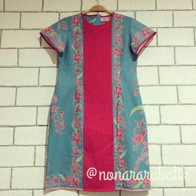 Pink-Blue Batik Dress
