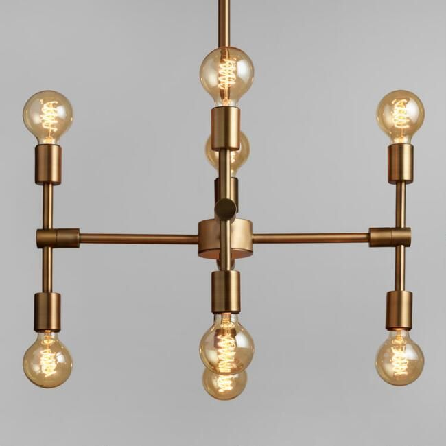 A Mid Century Modern Inspired Marvel Of Form And Function Our Exclusive Modular Chandelier Fills Any Living Space With The Nostalgic Glow Eight