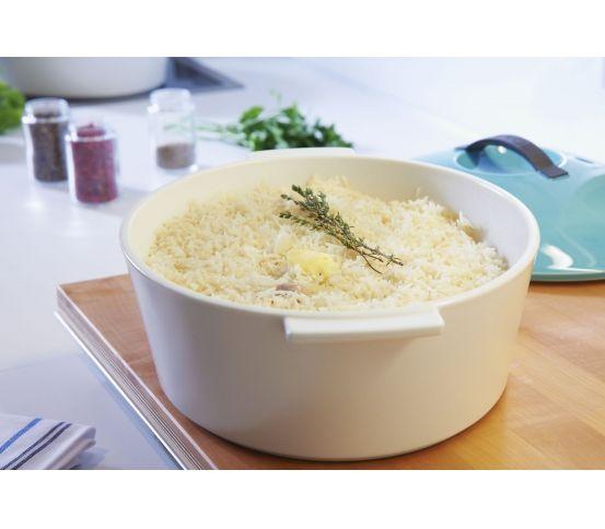 Garnek ceramiczny REVOLUTION 26 cm - czarna pokrywa / Revol ryż