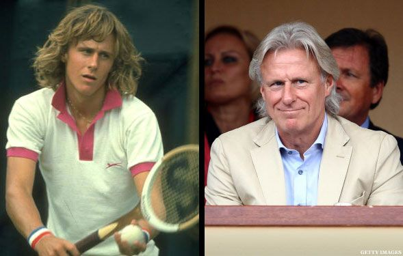 Bjorn Borg - then and now  (still as handsome as ever!!! - JK)