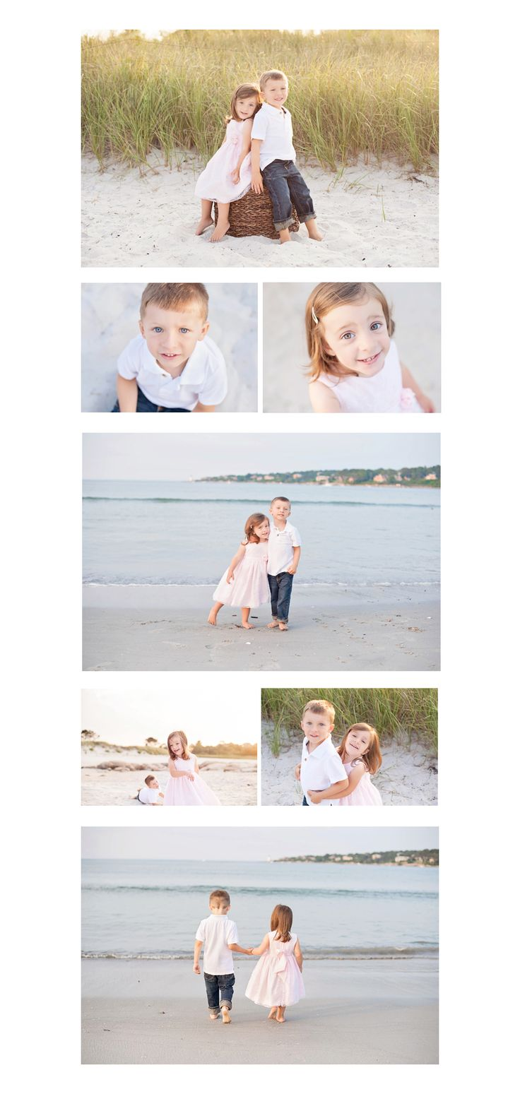 Beach Session with two adorable children - photography