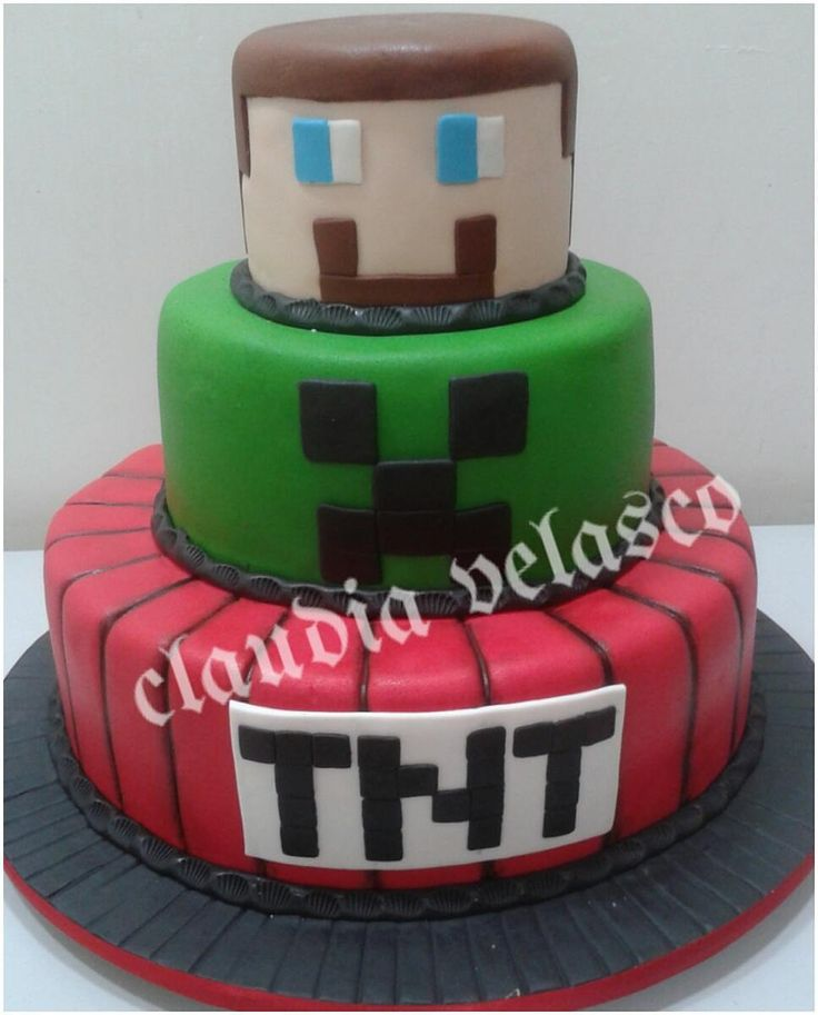 Bolo Minecraft #bolo #bolominecraft #minecraft #minecraftparty #festaminecraft #festa #festademenina - _claudiavelascodoces