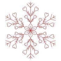 OregonPatchWorks.com - Sets - Redwork Snowflakes