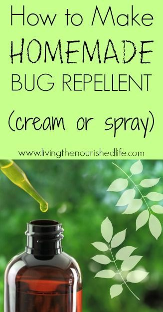 How to Make Homemade Bug Repellent Cream or Spray - from The Nourished Life